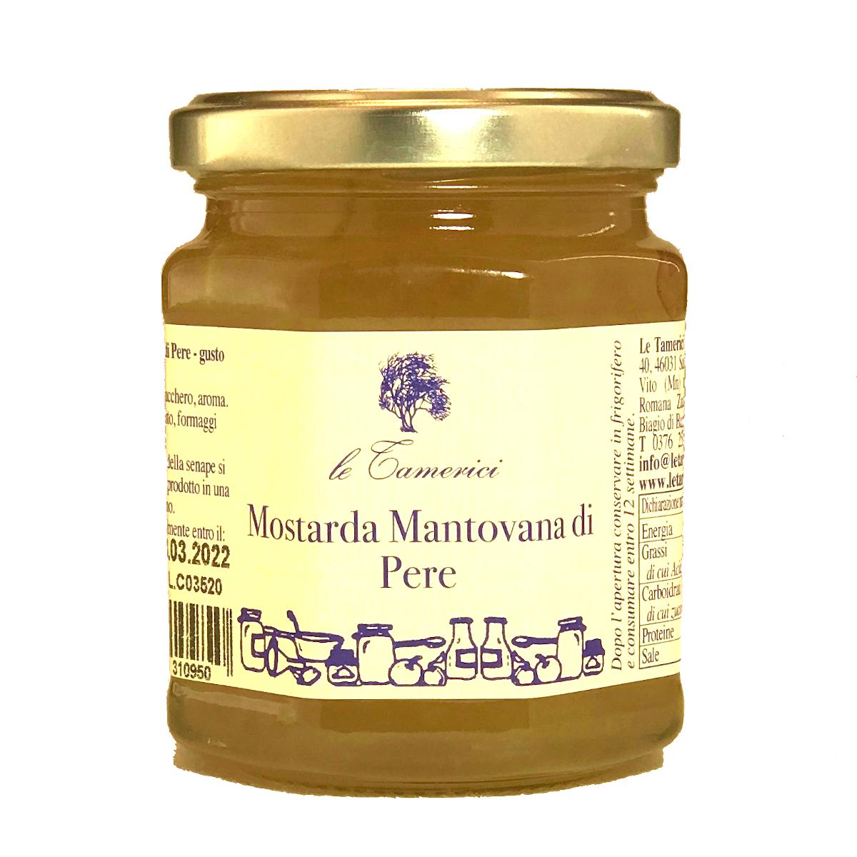 Mostarda Mantovana di Pere - Senffrüchte aus Birnen - Le Tamerici